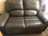 Quality extra strong leather reclining sofa