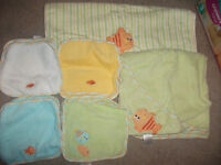 Gender Neutral Baby/toddler towel set- 11 pieces-New