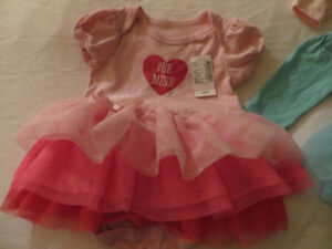 Tutu bebe, robe, dress, crinoline skirt, dress, pant 0-6 NEW
