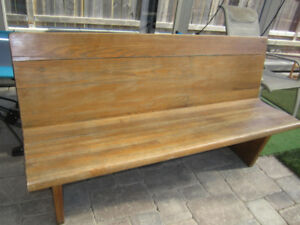 Wooden bench (Vintage Church Pew)