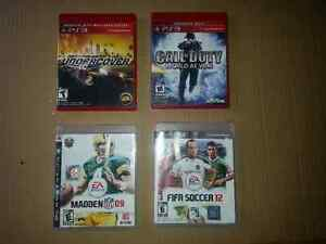 PS3 Games Call of Duty World at War Need for speed Madden Fifa
