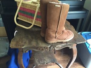 Antique table, Auckland books, wool coat, picnic basket