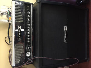 Line 6 HD147 head and Line 6 Slanted Cabinet