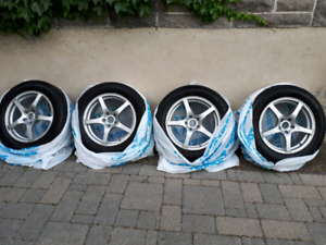 """Set of mags and tires 17"""", 5x114.3, (350$ mags only)"""