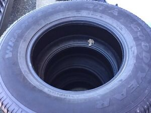 4 Goodyear Wrangler tires from F-150