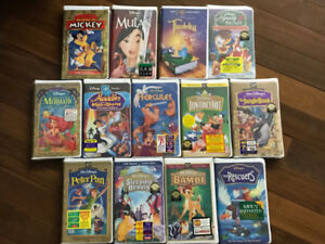25 Original Disney Movies VHS
