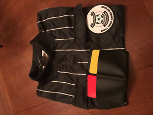 BC Soccer Assiciation Referee shirt and penalty cards
