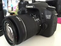 Like NEW Canon 70D DSLR Camera Lenses & Bag