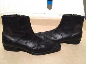 Men's Lounge by Mark Nason Leather Boots Size 10.5