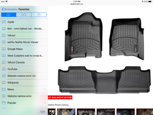AVALANCHE TAHOE WEATHER TECH FLOOR LINERS NEW COND