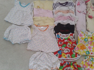 Baby girl's clothes from 6-12m