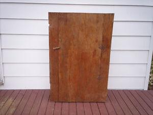 Antique Plywood Corner Cabinet.