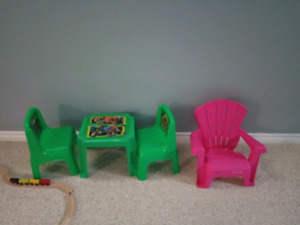 Table and chair set for baby