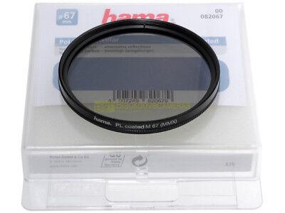 67mm. filtro Polarizzatore circolare Hama PL coated. Circular polarizer.