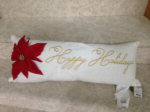 Brand New Happy Holidays Throw Pillow