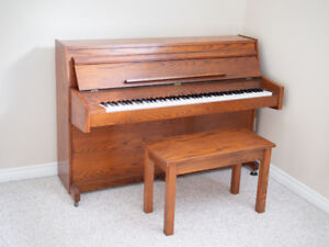 Free Piano + Piano bench with storage