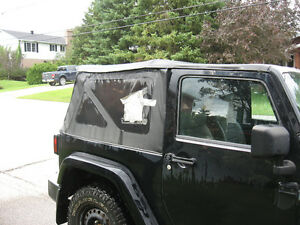 Soft top for wrangler jeep