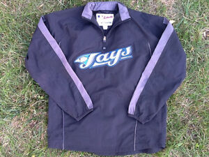 Toronto Blue Jays Retro Youth Large Authentic Jacket.