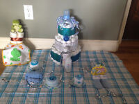 Diaper Cake for gift or boy baby shower