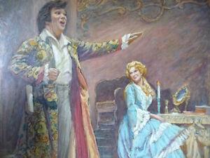 Opera, 'Mignon', Original Oil by Geoffrey Traunter, 1977 Stratford Kitchener Area image 2