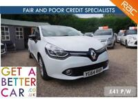 Renault Clio Energy White - 64 Reg - 48K - £41 PW - FAIR AND BAD CREDIT FINANCE