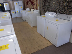 Large selection of washers and dryers. 90 day warranty.$199 & up
