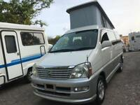 2001 TOYOTA HIACE REGIUS PETROL 4 BERTH POP TOP CAMPERVAN NEW SIDE CONVERSION