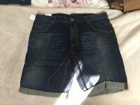 Mens jean shorts X2