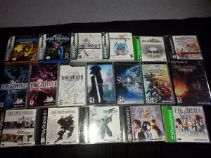Final Fantasy, Breath of fire, Resident Evil, Megaman, metroid