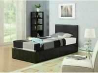 🟦✔️Decore Your Dreams🟦✔️(3ft) Single Size Leather Storage Bed Frame With Opt Mattress-Order Now