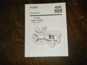 Ford LT 10A Lawn Tractor parts Manual Model 9809213