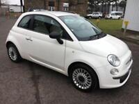 1010 Fiat 500 1.2 POP White 3 Door 63546mls MOT 12m £30 Road Tax