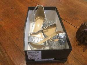 Silver Prom shoes size 7 - worn once - only $25