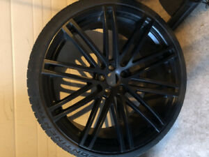 "Ruff Racing 22"" Wheels With Comtinental Tires"