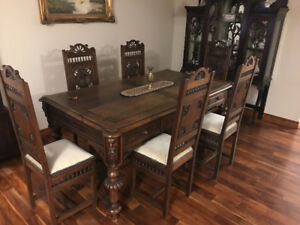 Antique 1880s  medieval / gothic Dining table