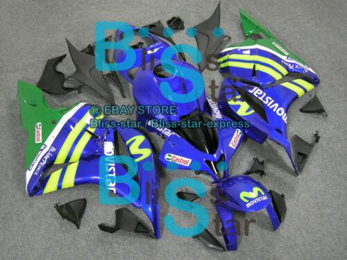 Blue Gloss INJECTION Fairing Fit HONDA CBR600RR 2010 2011 2009-2012 14 A3
