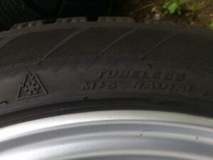 Set of 4 winter tires, mounted on rims North Shore Greater Vancouver Area image 4