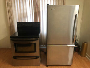 Quick sale Stainless steel fridge electric stove oven