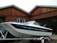 16 ft Trihull Bowrider & Trailer