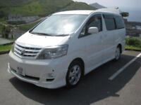 TOYOTA ALPHARD 2.4 V Spec Model Day Van White Auto Petrol, 2006
