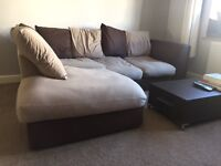 Brown and Beige Sofa for Sale £50