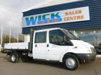 2014 Ford TRANSIT 350L D/CAB RWD 100ps 6 SEATER *TIPPER* Manual Tipper