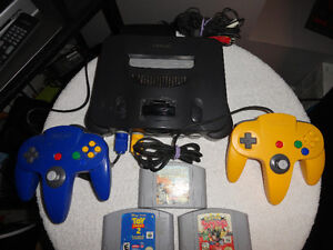 Nintendo 64 Console with all Accessories & 3 Games