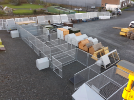 Galvanised mesh panel Dog pens and cages