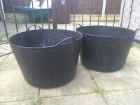 Two extra large gorilla buckets unused