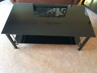 Black Glass Coffee Table For Sale Cheap!