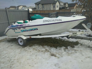 ###  SELL OR TRADE ## SEA DOO CHALLENGER ## GREAT FAMILY BOAT ##