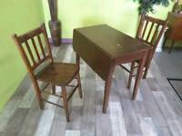 Table & Set Of 2 Chairs - Can Deliver For £19