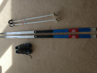 Salomon Cross Country-skis' (190) poles & boots(ladies 8)