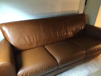 Natuzzi Brown Leather Couch - can also buy matching recliner
